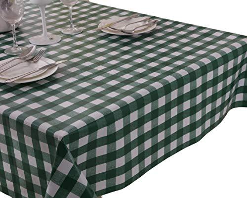 Vinylla - Mantel mesa diseño cuadros color verde