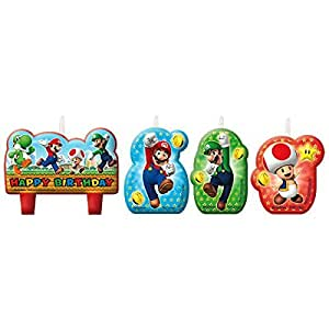 Amscan 171554Super Mario Happy Birthday Kerzen