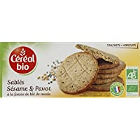 Céréal Bio - Sablés bio au beurre, sésame et pavot, à la farine de blé de meule - Le paquet 132g - Pirx Unitaire...