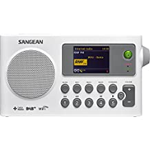 Sangean Sir De 100 – Radio Internet portátil (Radio DAB +/FM, WiFi, Spotify, MP3, despertador), color blanco