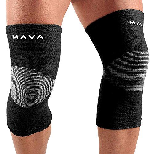 Mava Sports Kniebandage | Unterstützt Das Knie Beim Sport Wie Gewichtheben, Bodybuilding, Crossfit, Fitness, Joggen | 1 Paar | 2 Farben