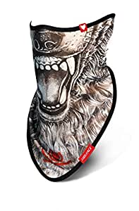 wolface Cordon de loup masque de ski snowboard cou visage protection cache-col Bandana écharpe