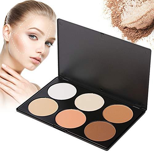 Highlighter Palette, Contouring Palette,Concealer Palette,6 Farben Professional Multi-Make-up Pulver Palette