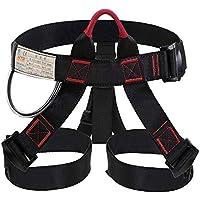 Selighting Arnés de Escalada Proteger Pierna Cintura Más Seguro,Cinturones de Seguridad para Mujer y Hombre para Montañismo Alpinismo Expedición Escalada en Roca (Negro)