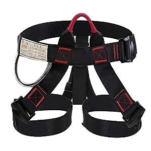 Selighting Arnés de Escalada Proteger Pierna Cintura Más Seguro,Cinturones de Seguridad para Mujer y Hombre para Montañismo Alpinismo Expedición Escalada en Roca