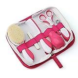 Nuvita 1136 Set Para El Cuidado Del Bebé – Estuche Para Cuidados E Higiene Del Bebé - Kit Para Uñas Y Cabello - Aspirador Nasal – Ideal Para Viajes – Libre De BPA – Marca EU – Diseño Italiano (Rosa)