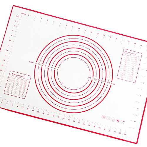 Tappetini da forno, LoveChef silicone pasticceria Mat antiaderente con Large Size 400 * 600 mm - Red