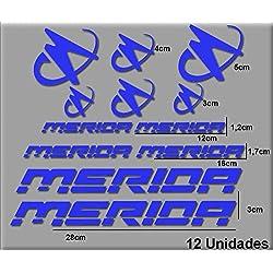 Ecoshirt K0-RNS0-34V3 Pegatinas Merida R63 Vinilo Adesivi Decal Aufkleber Клей MTB Stickers Bike, Azul