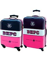 b4e648280d Beverly Hills Polo Glub Girl Set 2 ABS Trolley Suitcase 55 68cm 4 Wheels