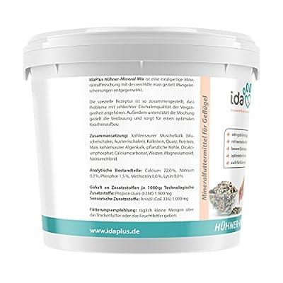 Ida Plus - Hühner Mineral Mix 5 Kg Eimer - Einzigartige Futterkalk Mineralstoffmischung mit Anis - Wertvolle Mineralien - bessere Eischalenqualität - Enthält Muschelkalk und Calcium (5 Kg) von Dr. Hesse Tierpharma GmbH & Co.KG auf Du und dein Garten