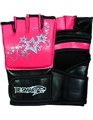 besmart MMA, UFC Guantes de agarre Ladies Boxeo Kick Muay Thai para mujer morado, rosa envío gratuito Reino Unido, hombre mujer Infantil, rosa