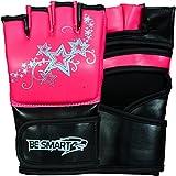 besmart MMA UFC Grappling-Handschuhe Damen Boxsack Kick Muay Thai Damen Pink Kostenlose Lieferung UK Rosa rose L