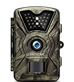 EARTHTREE Wildkamera, 12MP 1080P Full HD Jagdkamera Low Glow Infrarot 20m Nachtsicht Überwachungskamera 2.4