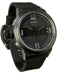 Welder K24-3605 - Reloj para hombres, correa de cuero color negro