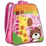 Zoo / Tiger / Giraffe / Mädchen Rucksack Kindergartenrucksack Kindergarten / Gepolsterte verstellbare