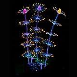 Uniclife Strip Coral Plant Ornament Glowing Effect Silicone Artificial Decoration for Fish Tank, Aquarium Landscape – Orange