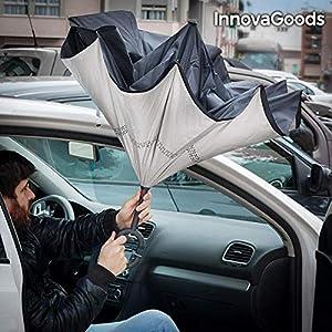 InnovaGoods Paraguas Reversible con asa