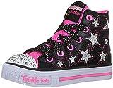 Skechers Mädchen Shuffles-Rockin Stars Ausbilder, Schwarz (Black/neon Pink), 33 EU