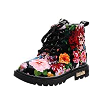 FriendG Girls Fashion Floral Kids Shoes Baby Martin Boots Casual children Boots