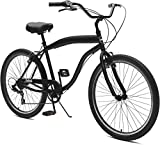 "Critical Cycles Herren Chatham-7 Men's Beach Cruiser 26"" Seven-Speed Bicycle, Matte Black, One Size"