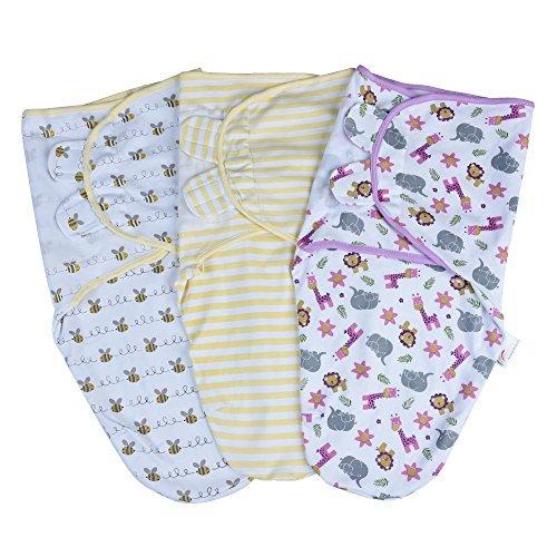 Golden Phoenix Products Swaddle BlanketBaby Ensemble de lingettes Ajustables pour bébé en Coton pour bébé
