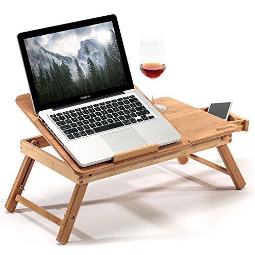 Mesa de Cama Para Portátil Hankey de Madera de Bambú Con Patas...
