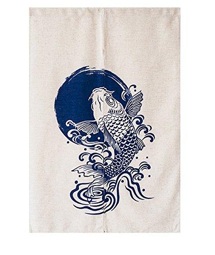 Anstrich Art Japanischer Noren Vorhang Tür Vorhang-großer Fisch (Hippie-perlen-tür)