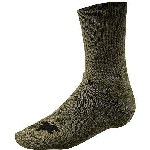 Schwere Kissen Socke (Seeland Etosha 5er Packung Socken - Dunkelgrün, M)