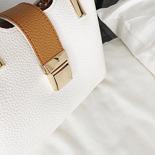 Metallo Fibbia Spalla Borsa Da Donna Messenger Portatile Trendy Moda Selvaggio Casual Solido Piccolo Sacchetto Quadrato Brown