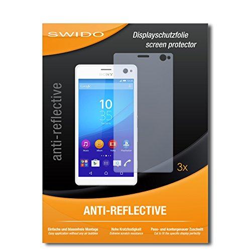 SWIDO Bildschirmschutzfolie für Sony Xperia C4 [3 Stück] Anti-Reflex MATT Entspiegelnd, Extrem Kratzfest, Schutz vor Kratzer/Bildschirmschutz, Schutzfolie, Panzerfolie