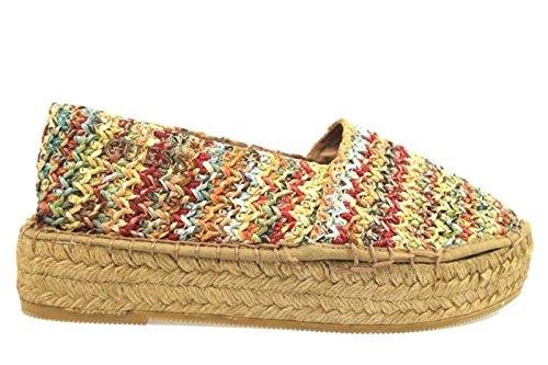 scarpe donna GUESS 38 EU espadrillas multicolor tessuto AP771