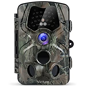 Victure Wildlife Trail Camera with Infrared Night Vision 120°Wide Angle Motion Activated 12MP 1080P Full HD for Outdoor Nature Garden Home Security Surveillance