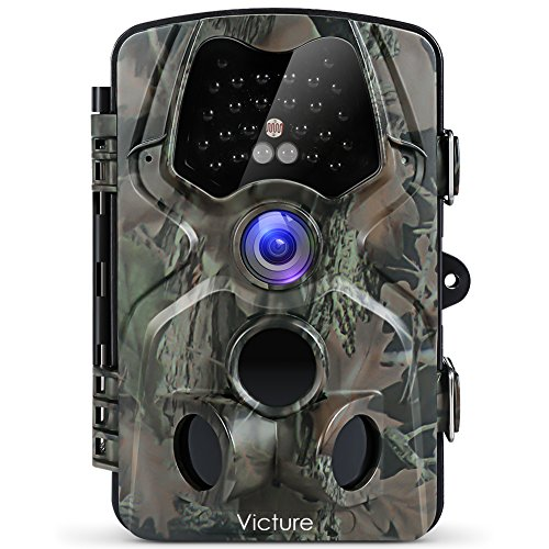 "Victure 1080P Full HD Wildlife Trail Camera Trap 12MP Infrared Cam with Night Vision 120°Wide Angle Motion Activated 2.4"" LCD Display for Outdoor Nature Garden Home Security Surveillance (FULL HD) Test"