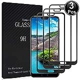 Msm-case [3er Pack Kompatibel mit Huawei Honor 10 Displayschutzfolie Gehärtetes Glas - Displayschutzfolie - [Vollkleber] [Vollbildabdeckung] [9H Härte] [Blasenfreie Installation] - Black Edge
