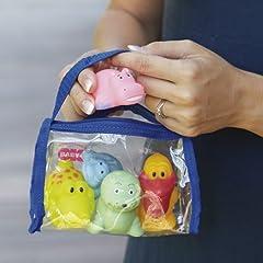 Idea Regalo - Ok Baby - Giochi d'Acqua - Piccoli Amici Galleggianti per Bagnetto Neonato e Bambino - 38460000