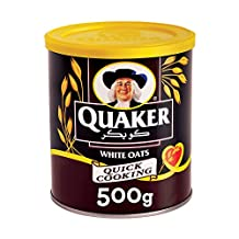 Quaker Quick Cooking White Oats in a Tin, 500g