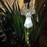 TiooDre Luci Variopinte Del Palo Degli Ornamenti Gravi AllAperto Di Angel Light Garden Solare