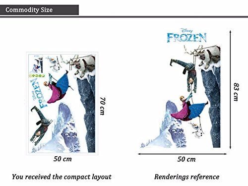 Wandtattoo Wandaufkleber Wandsticker Disney Frozen die Eiskönigin Elsa Klippe Kinderzimmer 50 x 83 W223 Viwaro