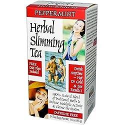 21st Century, Herbal Slimming Tea, Peppermint, 24 Tea Bags, 1.6 oz (45 g) CEN-22691