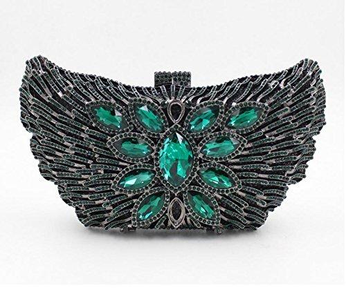 MYM il sacchetto di sera europeo e americano scaletta di stile farfalla borsa a mano piena trapano borsa Messenger 5 colori , color 3