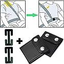 Auto Sicherheitsgurt Clips, Gurt aus Halsbereich entfernen, 4er Pack mit zwei Varianten, bis 4 cm Gurtbreite | Gurt verstellen und einstellen, Sicherheitsgurt Stopper, Leder Metall Adapter für PKW