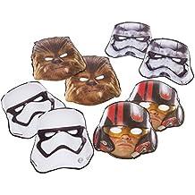8Star Wars El Despertar de la fuerza de la película los niños fiesta de cumpleaños máscaras de papel