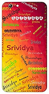 Srividya (Wealth And Knowledge) Name & Sign Printed All over customize & Personalized!! Protective back cover for your Smart Phone : Sony Xperia T2 Ultra / T2 Ultra Dual