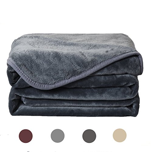 Balichun Kuscheldecke Tagesdecke Weiche Decke für Bett, Sofa, Reise (150 x 200 cm, Dunkel Grau) (Bett-decke)