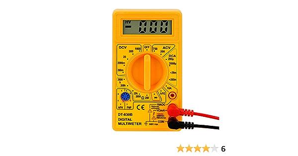 Multimeter Dt 830b Elektrisches Instrument Ohmmeter Volt Tester Lcd Auto Range Digital Voltmeter Gelb Baumarkt