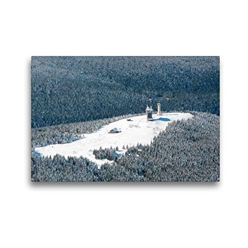 CALVENDO Toile de qualité supérieure 45 cm x 30 cm, la tête de Neige de Gehlberg | Tableau sur châssis | Tableau sur Toile sur châssis | Impression sur Toile véritable | Orte