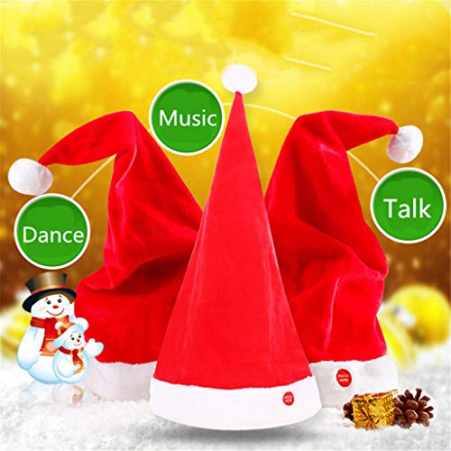 Guangtian Magie singen tanzen sprechen weihnachtsmütze für Erwachsene Kinder Weihnachten Spielzeug Party Spielzeug - Et Singen Magie