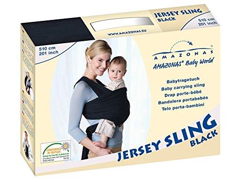 AMAZONAS Baby Tragetuch Jersey Sling black 0-9 Monate bis 9 Kg - 7