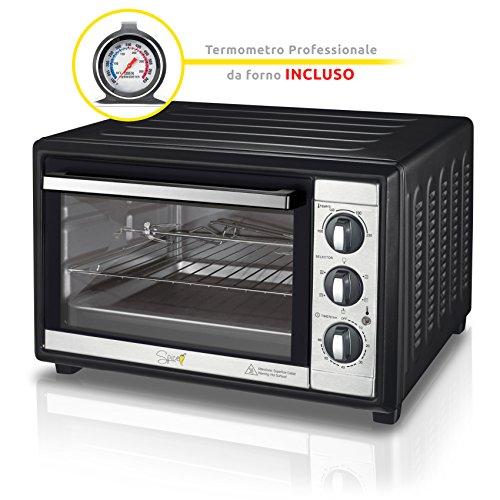 SPICE HABANERO 60 litri forno fornetto elettrico ventilato doppio vetro con girarrosto 2200 W + termometro professionale