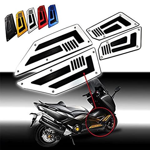 BJ Global 1 Set Front and Rear Footrest Footboard Step Motorcycle Floorboards Foot Pegs For For Yamaha T MAX 530 2012-2016